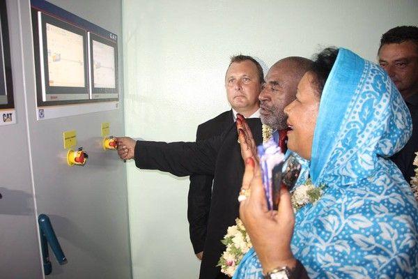 Allocution du président Azali à la centrale de Mamwé!